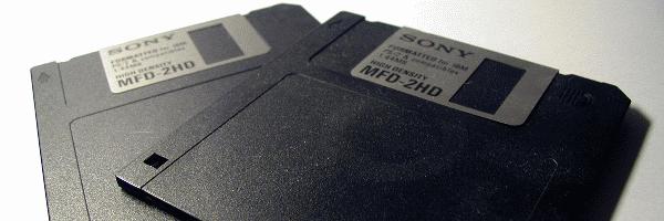 Deux disquettes 3.5″ SONY