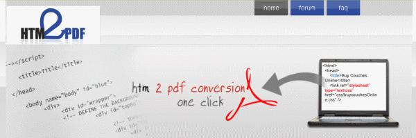 HTM2PDF, un service pour exporter des pages Web en PDF