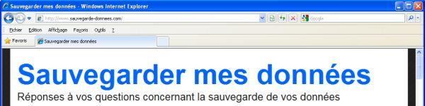 Le navigateur Internet Explorer