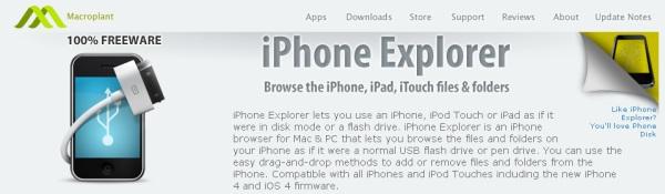 Le logiciel GRATUIT iPhone Explorer permet de naviguer dans son iPhone / iPad / iPod comme si il s'agissait d'une clé USB