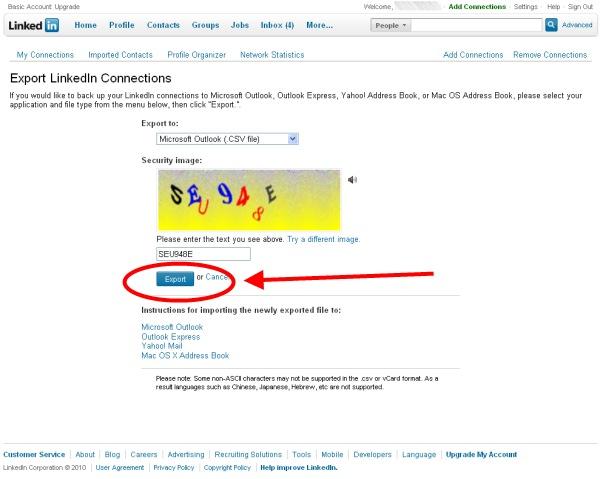 Exporter ses contacts LinkedIn au format souhaité