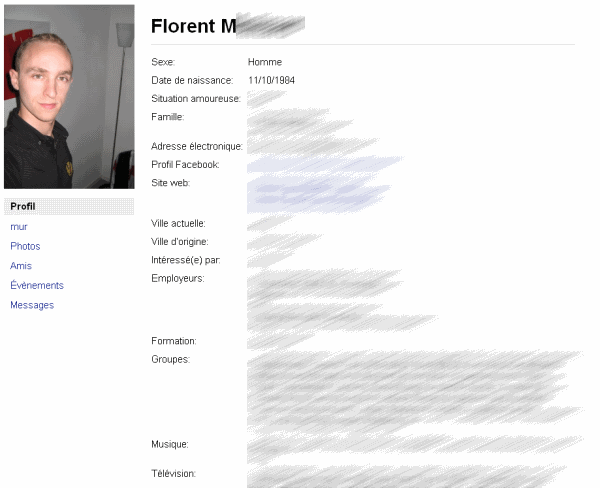 Votre profil Facebook sauvegardé