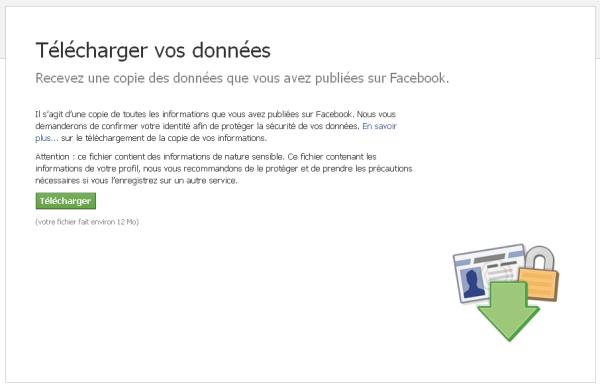 Télécharger la sauvegarde de son compte Facebook