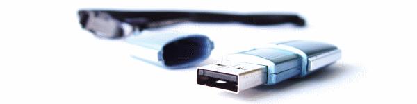Une clé USB qui évitera de passer à la machine grâce à son cordon tour de cou